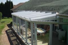 Télikert üveg tető