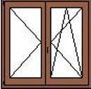Ketszarnyu nyilo-bukonyilo ablak