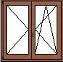 Kétszarnyu nyilo-bukonyilo ablak
