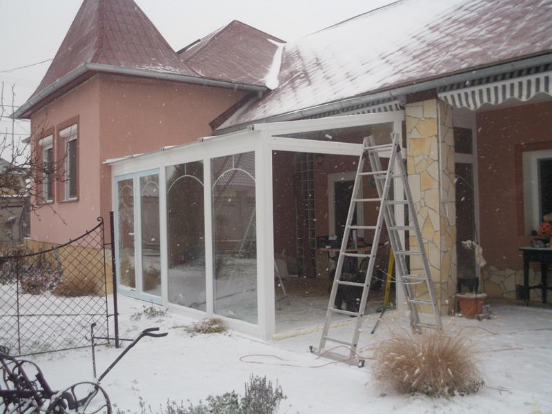Télikert építés télen